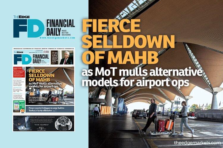 交通部探讨机场营运的其他模式 大马机场控股遭激烈抛售